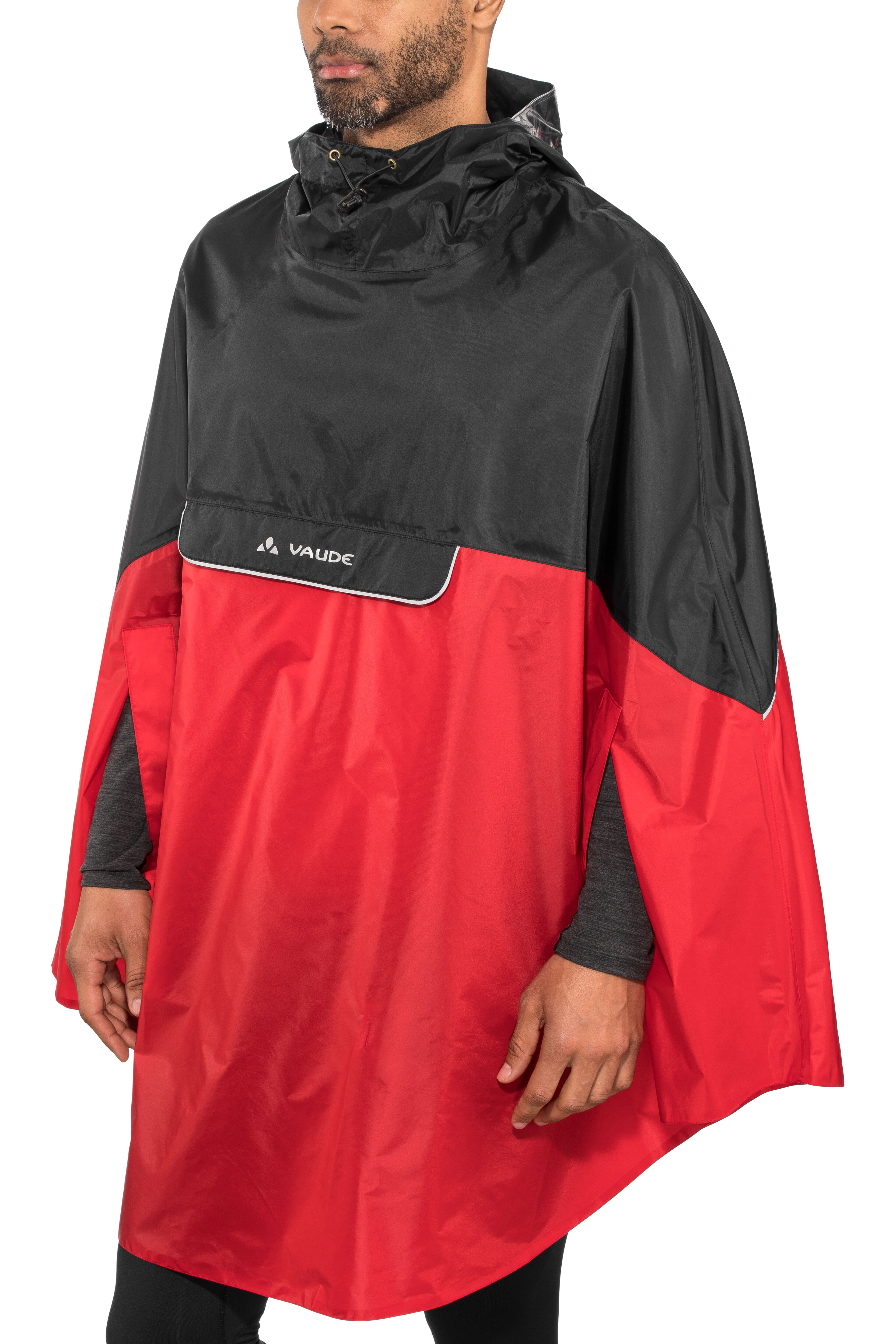 11e808027d03ab VAUDE Covero II Poncho indian red at Bikester.co.uk